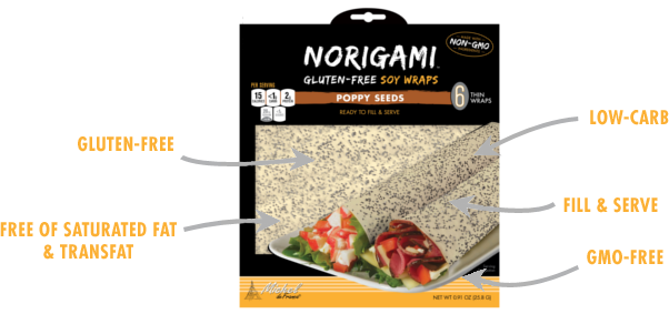 Norigami Soy Wraps Poppy Seeds