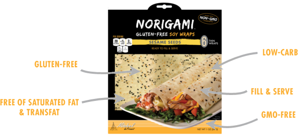 Norigami Soy Wraps Sesame Seeds